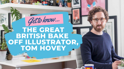 Catching Up With The Great British Bake Off Illustrator Tom Hovey