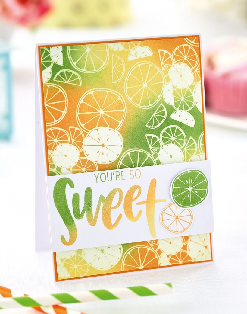 Fruity Emboss Resist Card