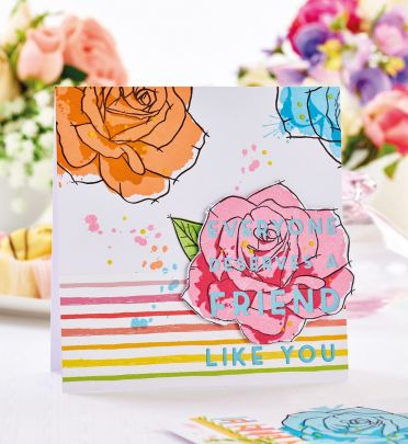 Floral Multi-layered Stamps