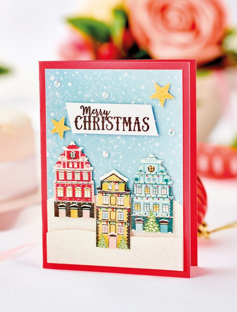 Stamp and Decoupage Christmas Cards