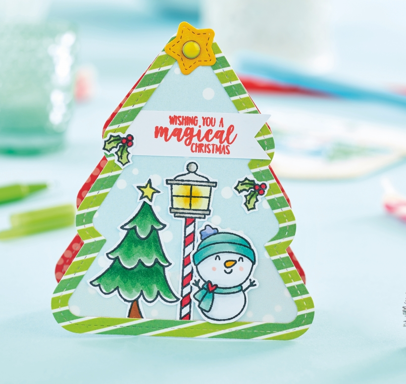 Shaped Christmas Tree Card