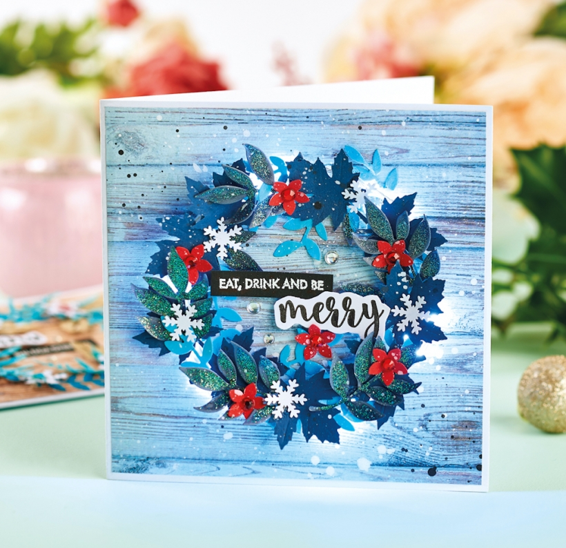 Die-cut Wreath Christmas Cards