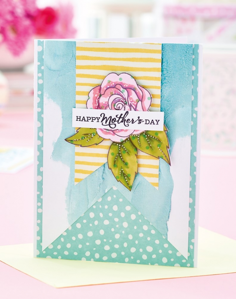 Mixed Media Mother's Day Card