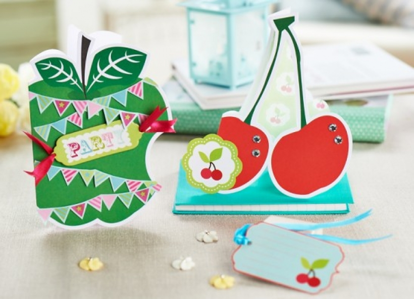 Bonus card making tutorial: fruity greetings