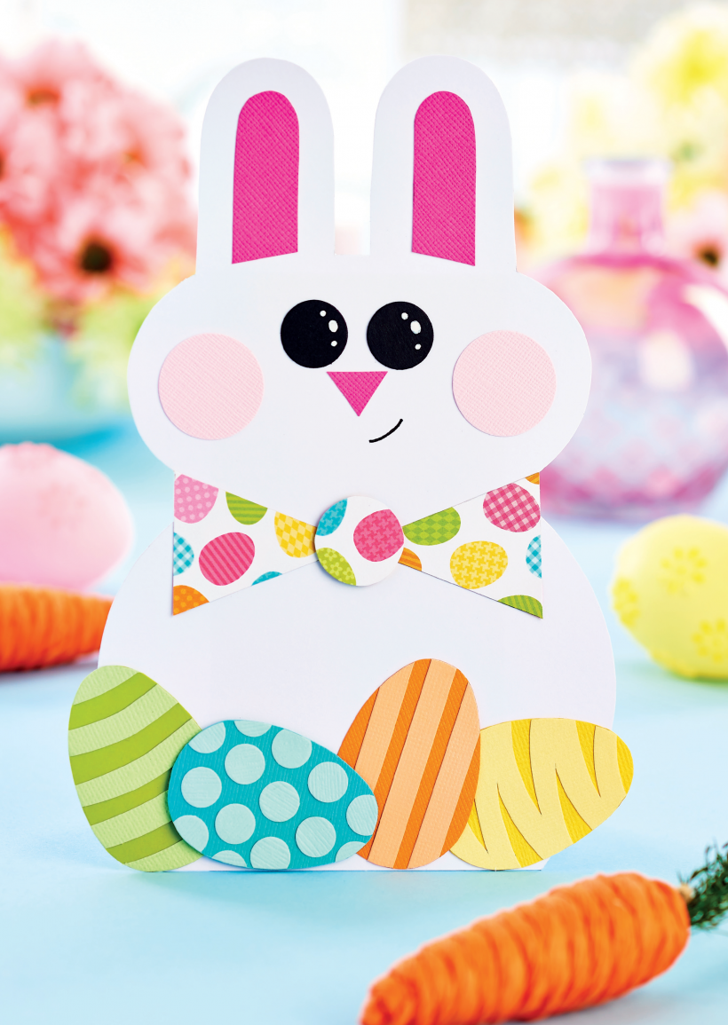 Shaped Easter Bunny Card