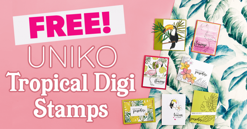 FREE Uniko Tropical Digi Stamps