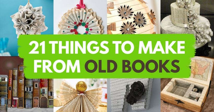 21 things to make from old books papercrafter blog