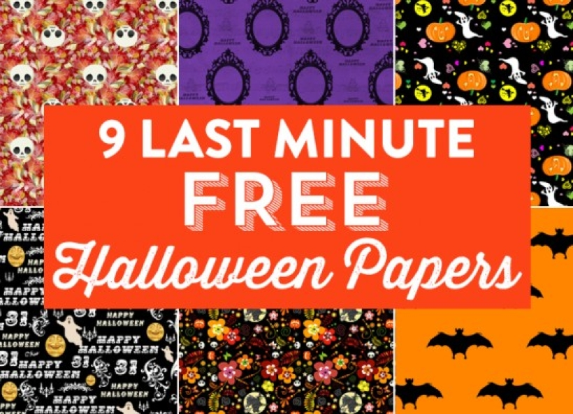 9 Last Minute Free Halloween Papers | PaperCrafter Blog
