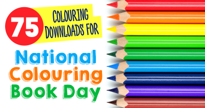 75+ Colouring Downloads for National Colouring Book Day