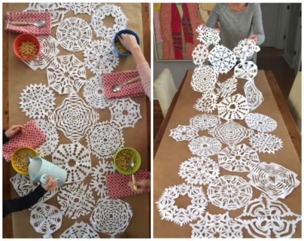 Beautiful Table Runner. 15 Alternative Paper Snowflakes To Make This Winter Gallery