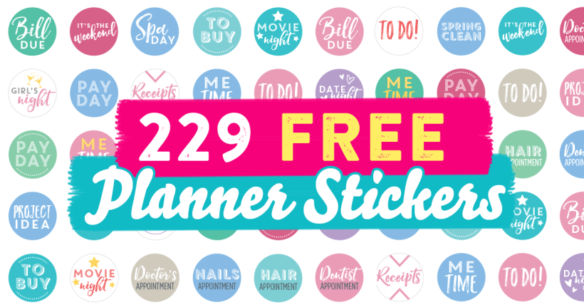 229 FREE Planner Stickers
