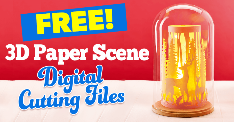 Free 3D Paper Scene SVG Cutting Files