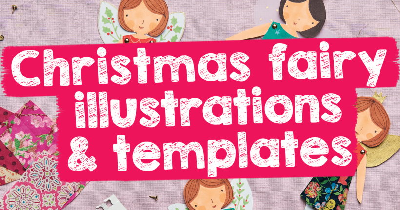 Christmas Fairy Illustrations & Templates
