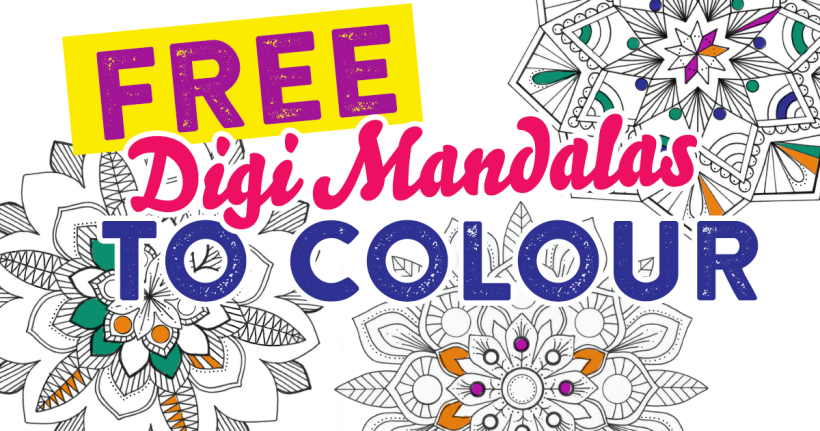 FREE Digi Mandalas To Colour