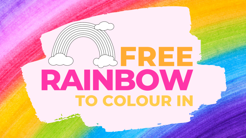 FREE Rainbow To Colour In