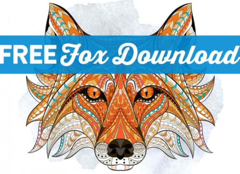 Mindful Colouring: Free Fox Download!