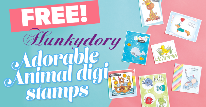 FREE Hunkydory Adorable Animal Digi Stamps