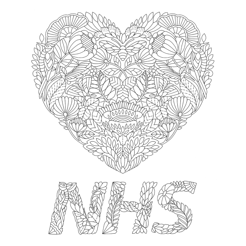 FREE Millie Marotta NHS Illustration To Colour In