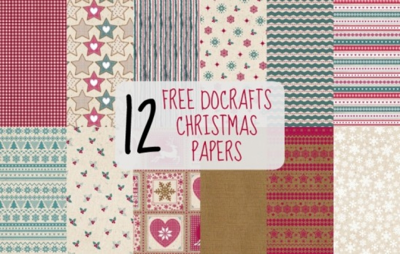 free christmas docrafts papers paper craft download