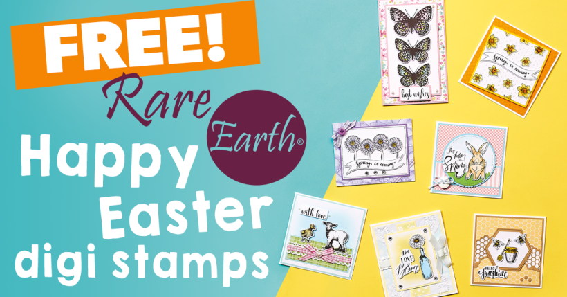 FREE Rare Earth Happy Easter Digi Stamps