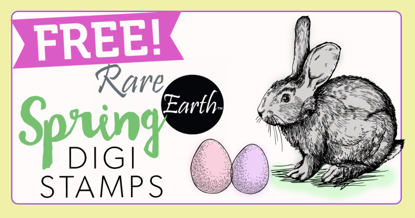 FREE Rare Earth Spring Digi Stamps
