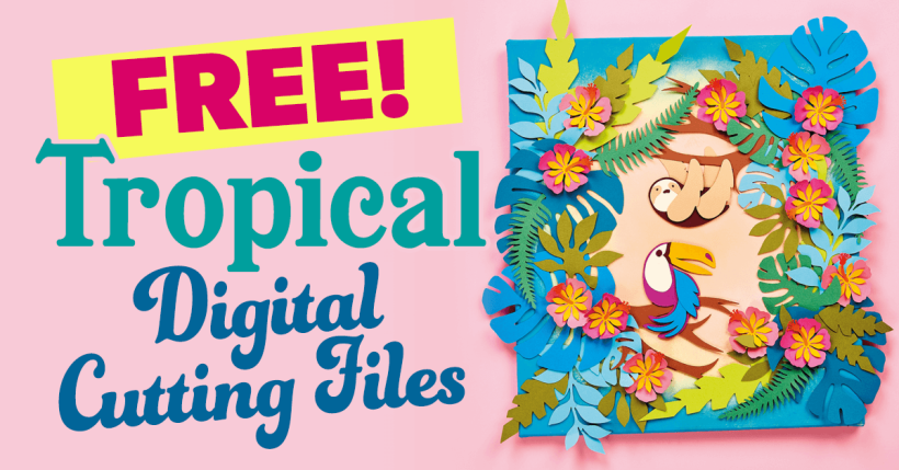 Free Tropical SVG Cutting Files