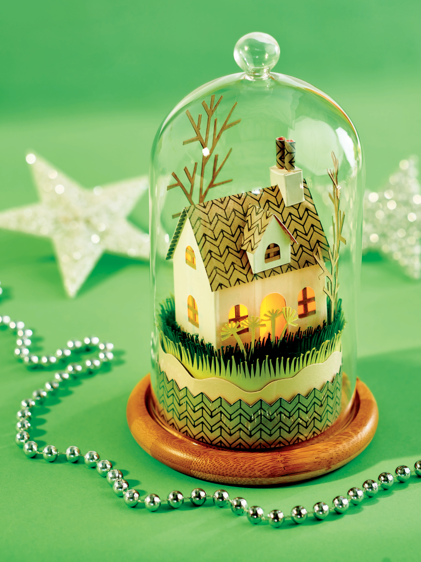 Step By Step Mini House In A Dome Papercrafter Project