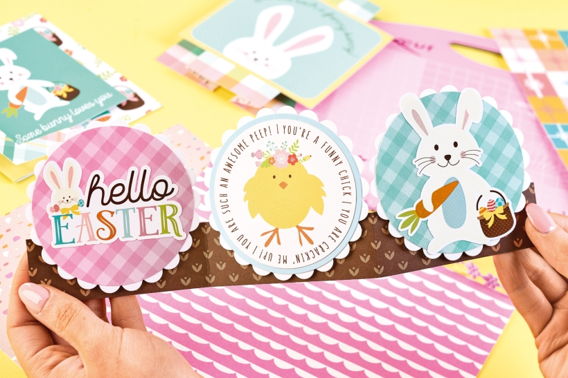 Easter accordion card