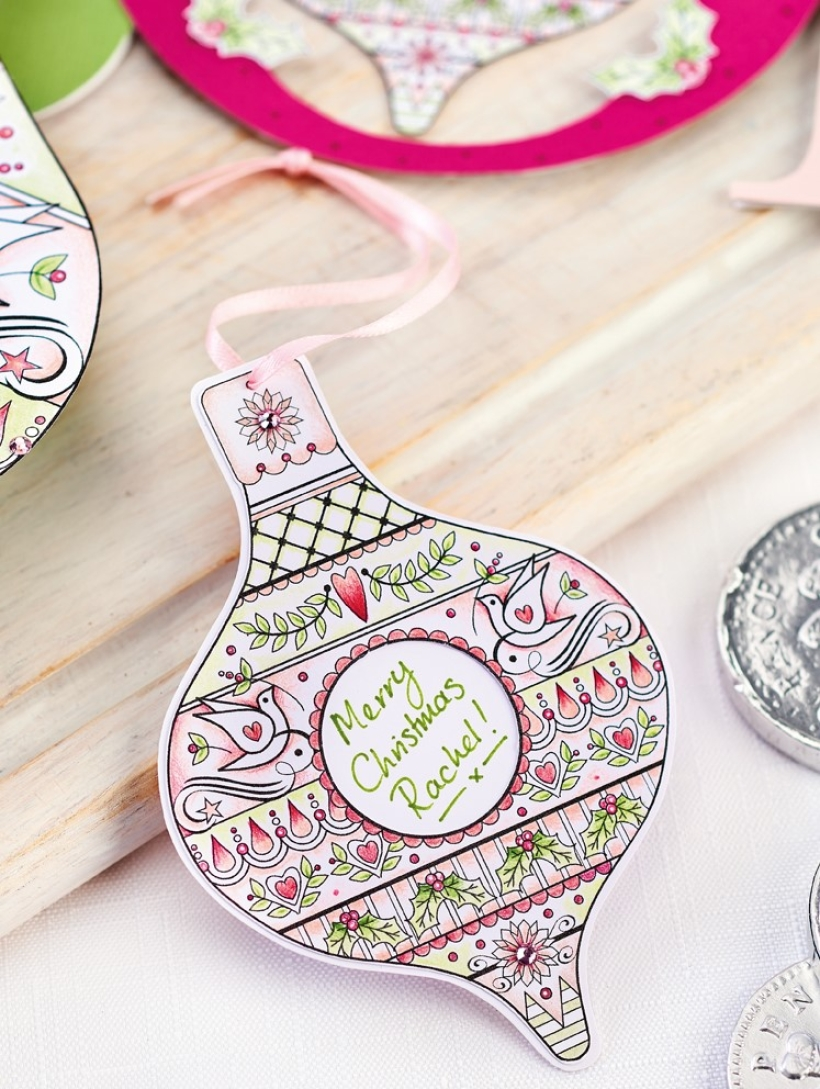 Personalised Bauble Gift Tag