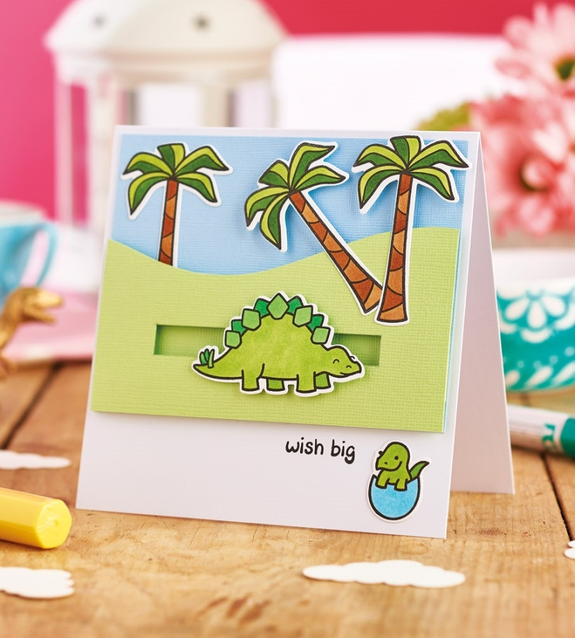Slider Dinosaur Card
