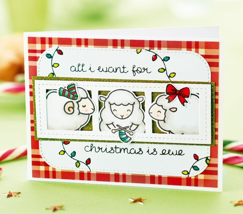 Framed Sheep Christmas Card