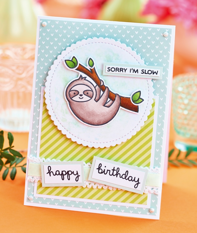 Free Cute Sloth Card Project