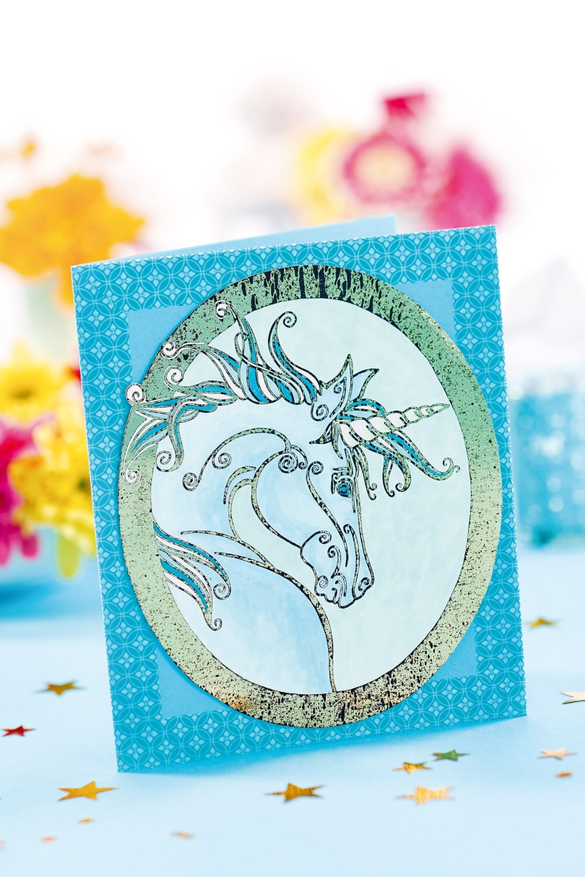 Free Unicorn Card Project Papercrafter Project