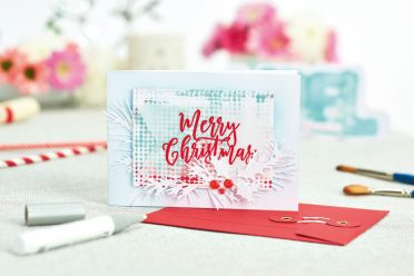 Embossed Stencil Card