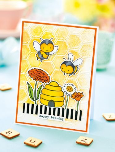 Embossed bee card