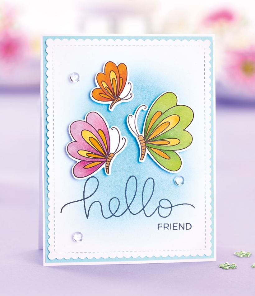 Stamped Floral Card