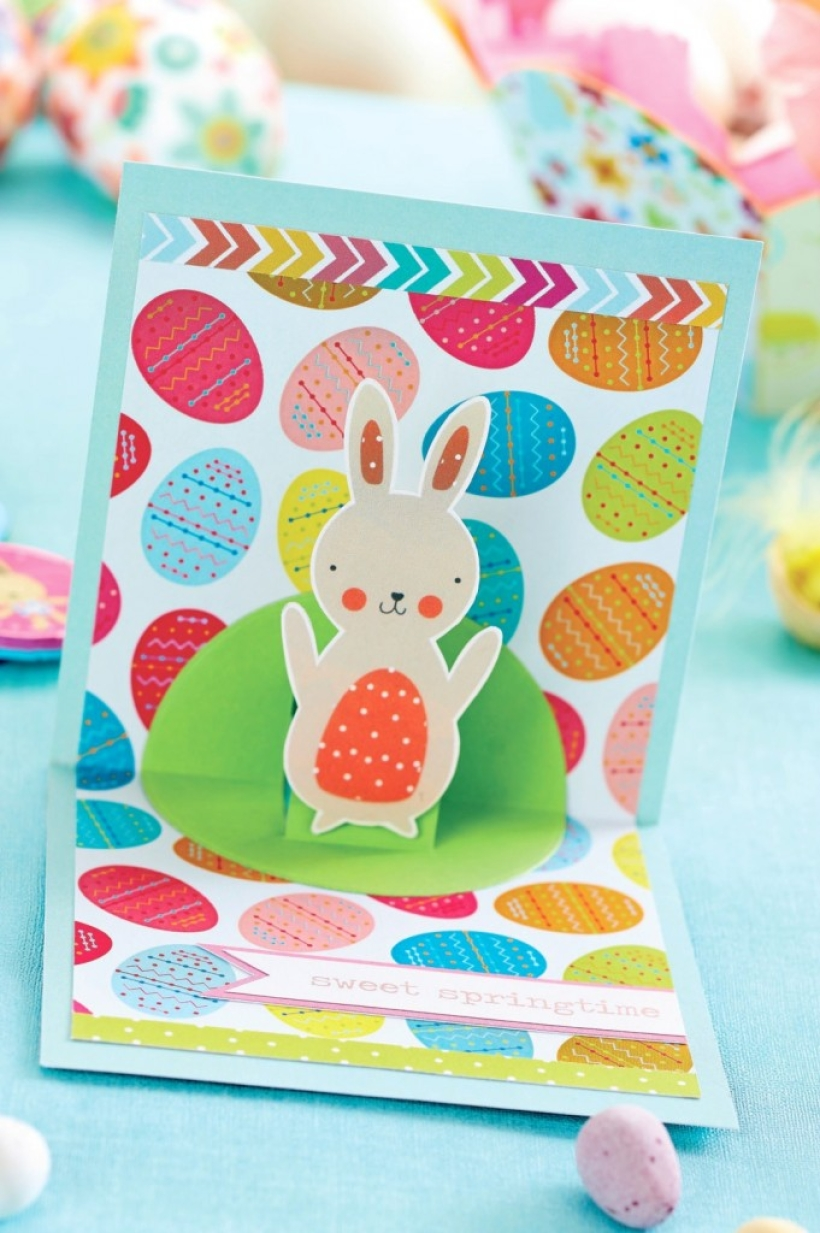 Make a popup Easter card PaperCrafter project – How to Make a Easter Card