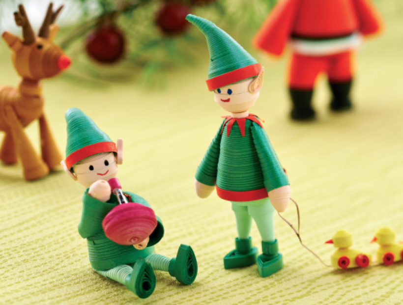 Easy quilled elves
