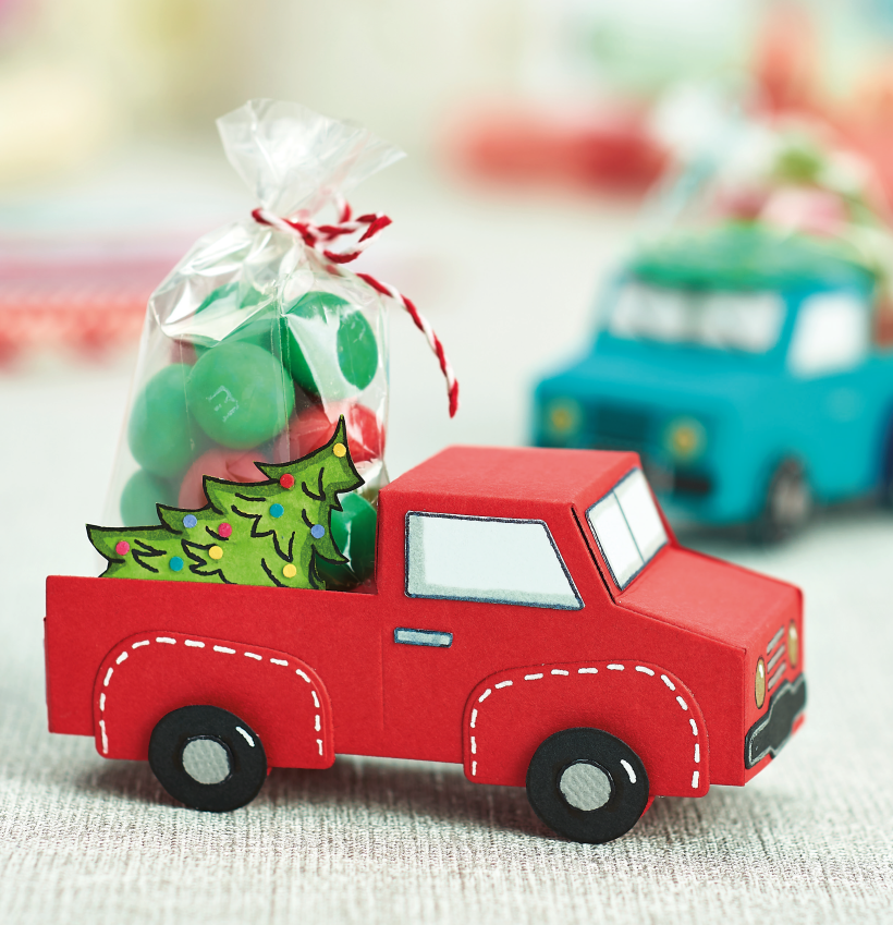 3D Die-cut Christmas Car