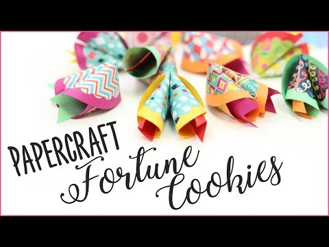 Papercraft Fortune Cookies