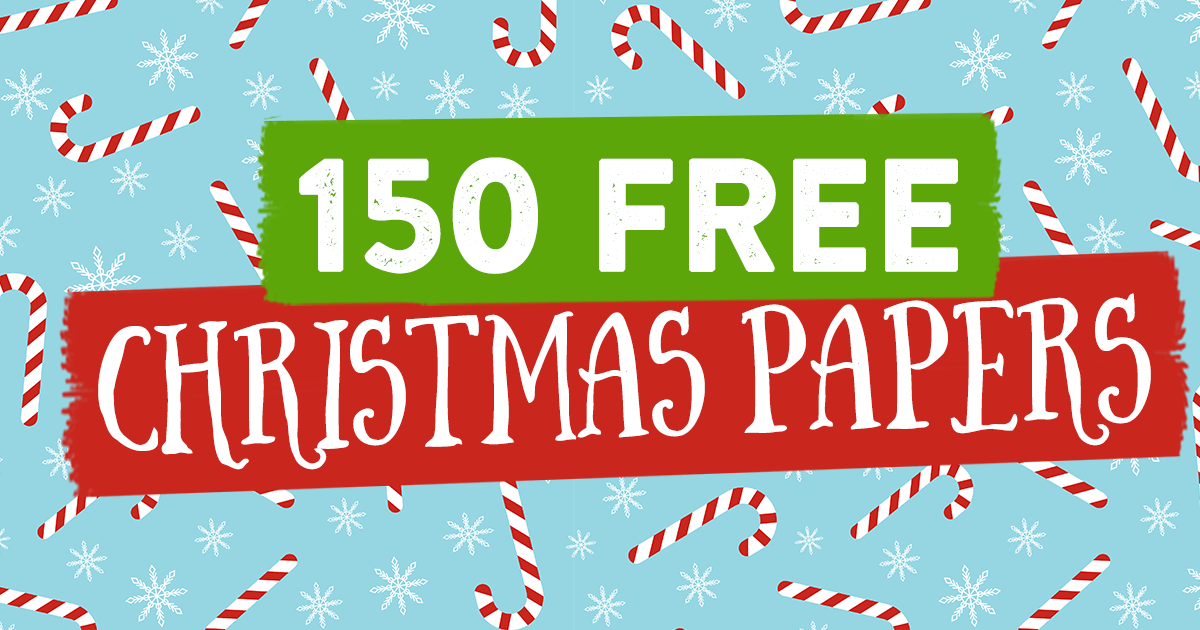 free christmas backing papers to download