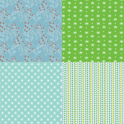 Blue and Green Christmas Papers