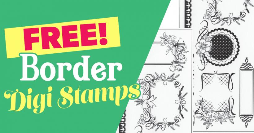 Border digi stamps
