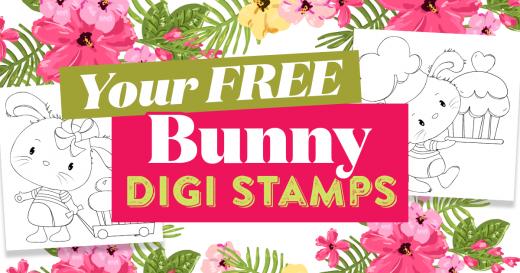Bunny digi stamps