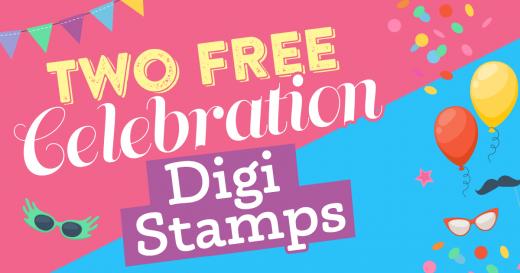 Celebration digi stamps pack