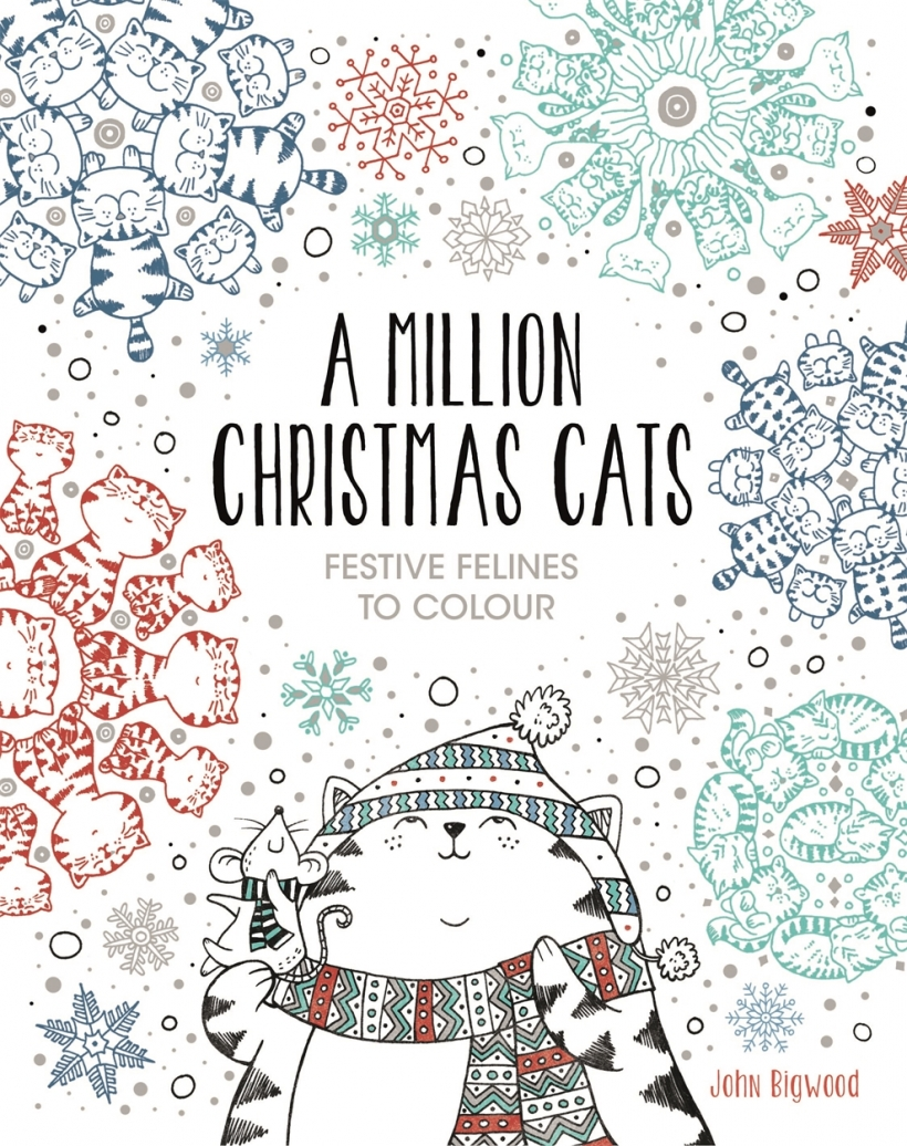 Christmas cats colouring