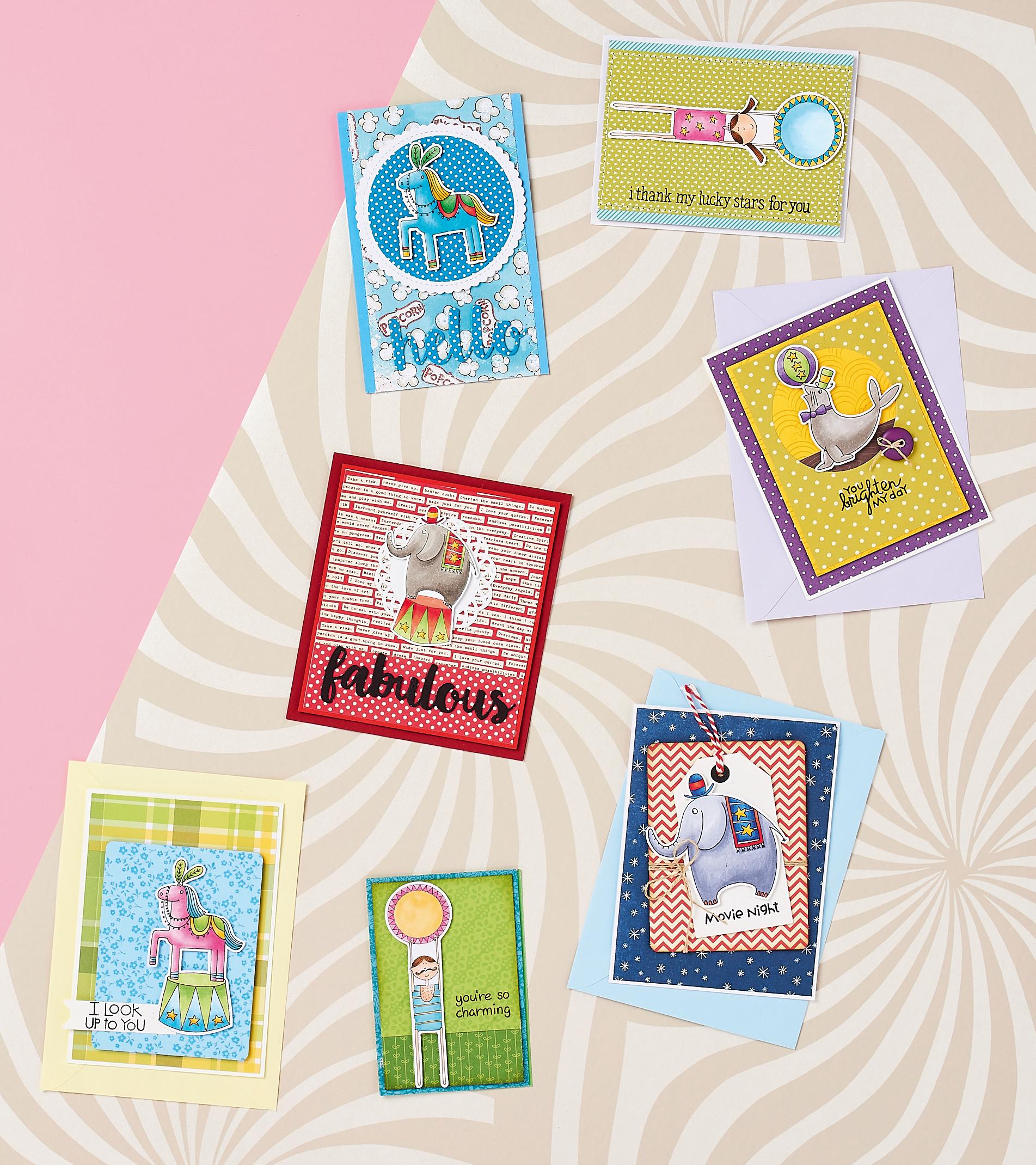 Free circus digi stamps