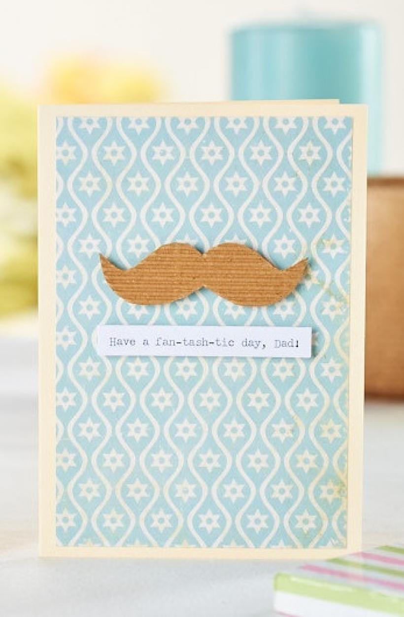 Moustache card dad
