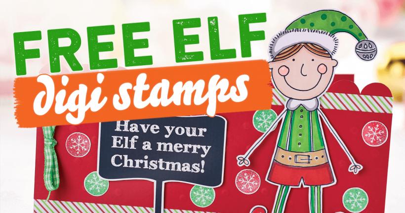 Elf digi stamps