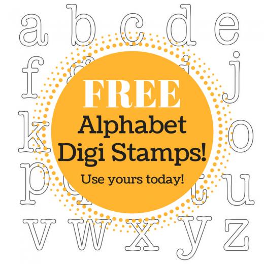 Alphabet digi stamps